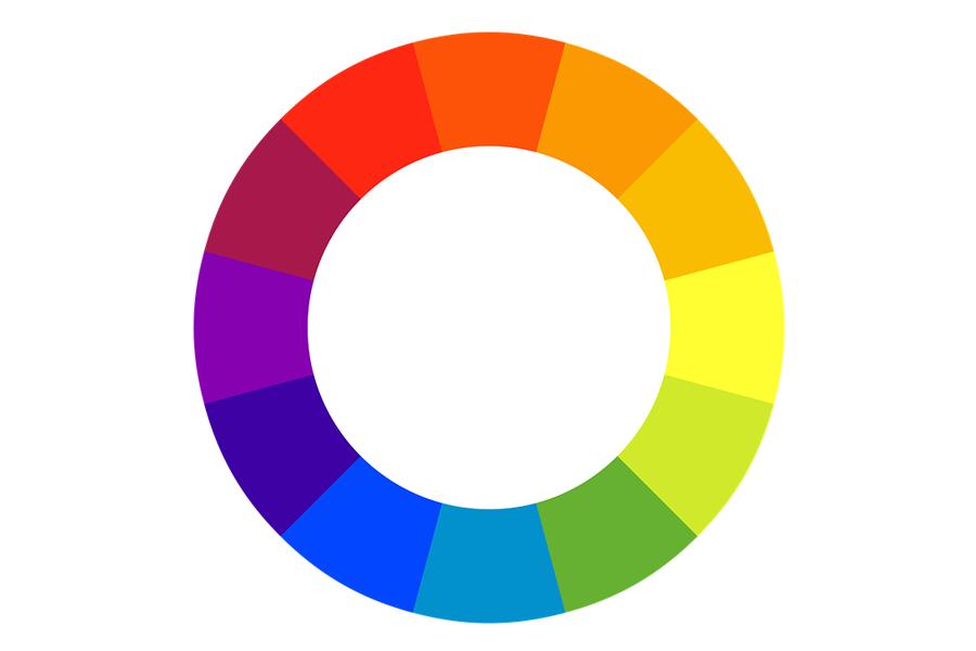 Vòng tròn màu sắc trong thiết kế